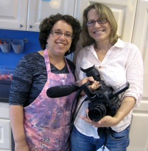 Donna Bernstein (CEO/creator of The Messy Artist) and Catherine Stratton of 9Beach Films.