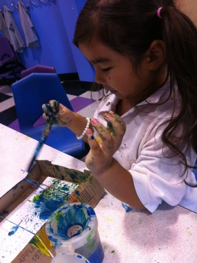 guitar painting art class kids new jersey
