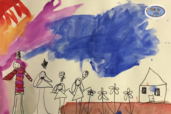the messy artist studio for kids art