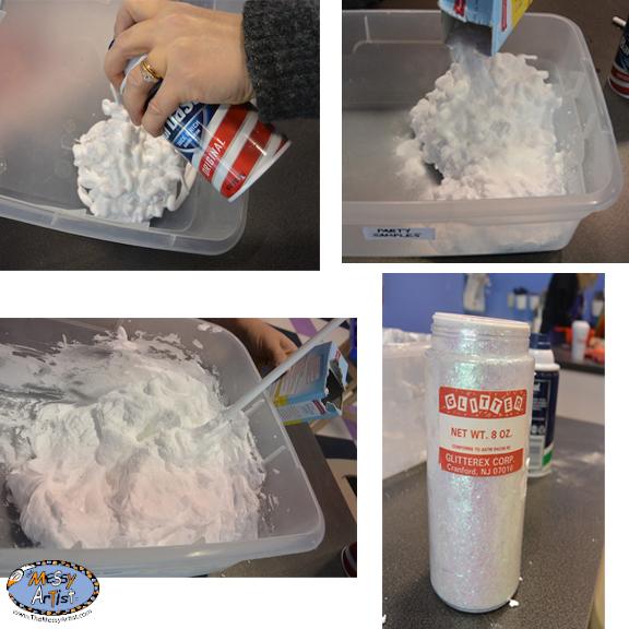 making snow dough