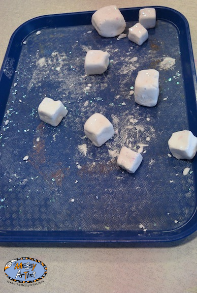 snow dough cubes the messy artist nj