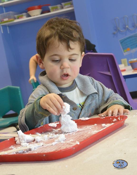 snow dough kids art fun project