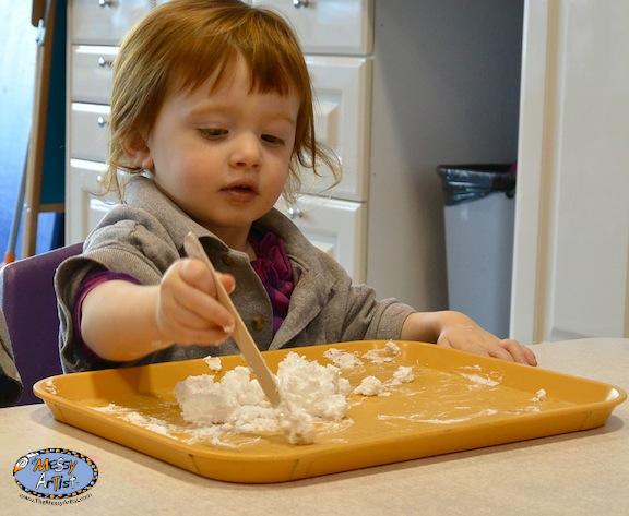 snow dough kids project winter