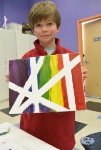 first grade art project resist paint
