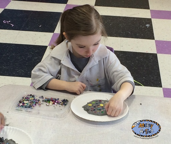 art lesson play clay tiles