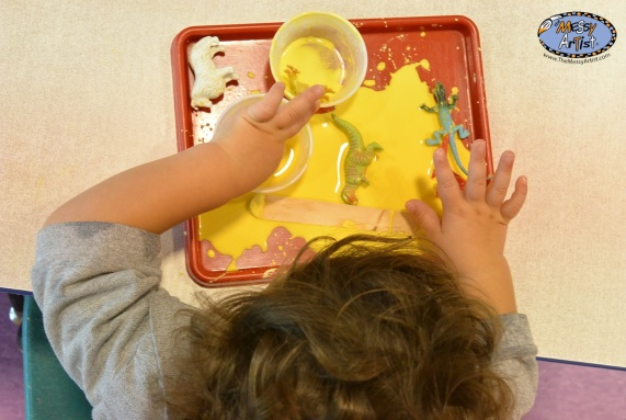 """""""Slime"""" (cornstarch and water)"""
