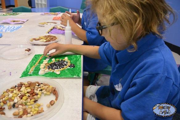 bean art preschool art project
