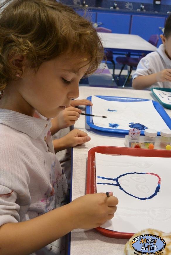 paint glue salt project 4 - 6 year olds