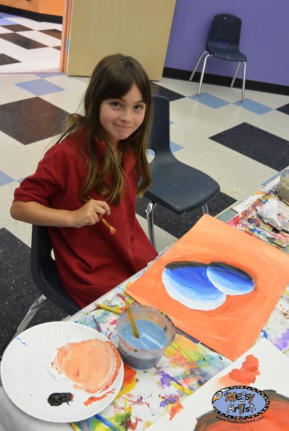 messy artist art studio for kids