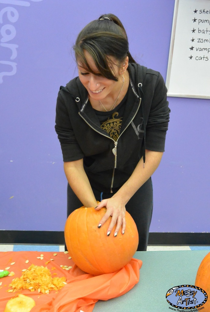 pumkin carving art class for kids