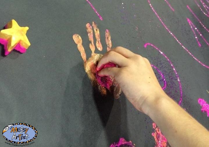 frozen paint messy artist