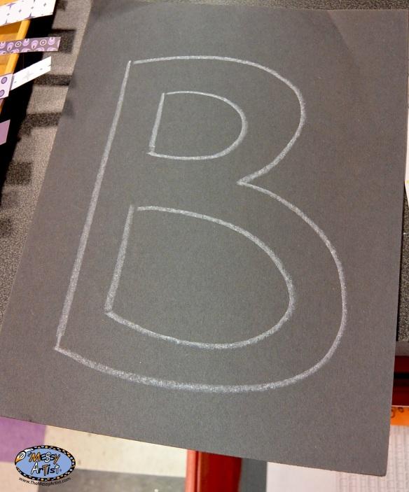 kids initial art project