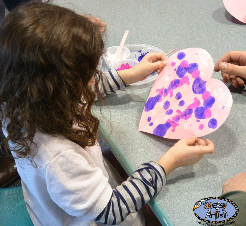 heart painting project for children