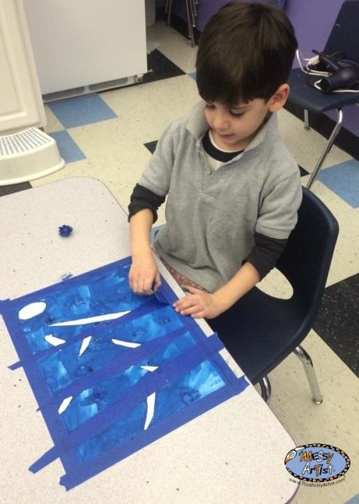 seasonal art kids project