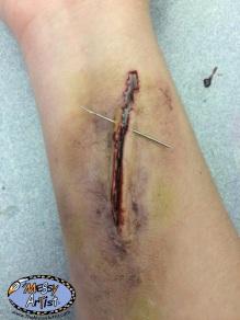 halloween makeup gash and wound