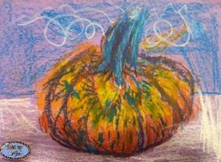 oil pastel pumpkin 4 Oct 2015 copy